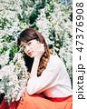 女性 ヘアスタイル 1人の写真 47376908