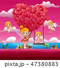 フェアリー 妖精 川のイラスト 47380883