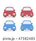 車 ミニカー 赤のイラスト 47382483