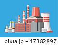 工場 製造所 建物のイラスト 47382897