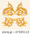 バロック様式 金 黄金のイラスト 47385113