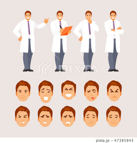 Doctor poses and emotions set 47385843