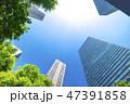 オフィス街 ビジネス街 ビル群の写真 47391858