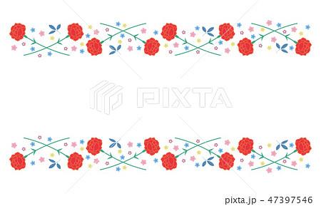 素材 母の日 カーネーションフレーム 3のイラスト素材 47397546 Pixta