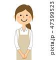 女性 主婦 店員のイラスト 47399523