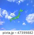 日本地図 青空 日本列島のイラスト 47399882