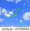 日本地図 青空 日本列島のイラスト 47399883