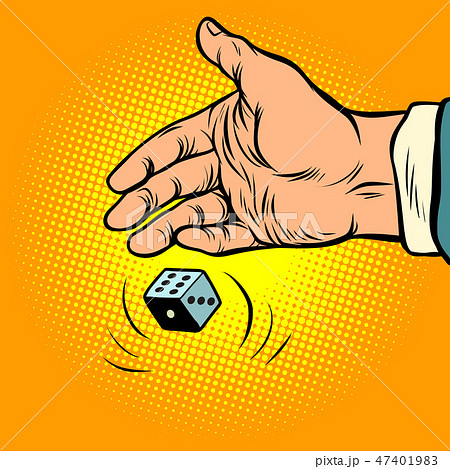 hand throws dice 47401983