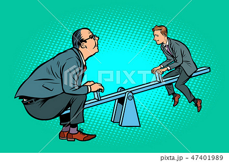 Big and small business equilibrium concept. Of a seesaw 47401989