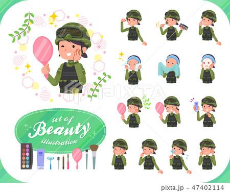 flat type military wear women_beauty 47402114