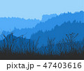 Vector illustration of a coniferous forest panorama 47403616