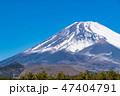 富士山 冬 富士の写真 47404791