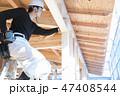 男性 工事現場 大工の写真 47408544