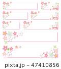 桜 フレーム ラベルのイラスト 47410856