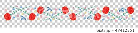 素材-母の日(カーネーションライン,短)20テク 47412551