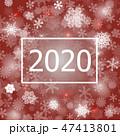 背景 雪片 スノーフレークのイラスト 47413801