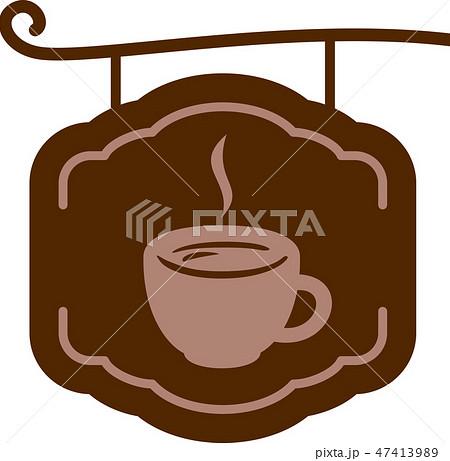カフェの吊り看板 47413989