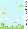 春 街並み 風船のイラスト 47414522