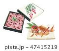 赤飯 ご飯 焼き魚のイラスト 47415219