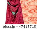 古布、かわいいアンティーク着物、絹、大正ロマン、和素材 47415715