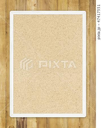 背景-壁-板-木目-茶-コルクボード-フレーム 47417551