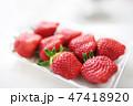 真っ赤なイチゴ 完熟 女峰 47418920