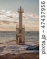 大洗海岸 灯台 海岸の写真 47437956