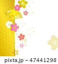 桜 背景 コピースペースのイラスト 47441298