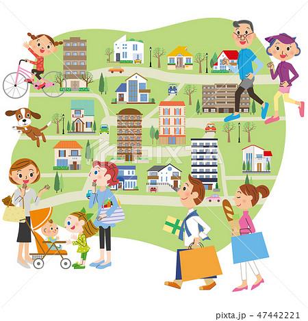 街並みと街の人々 47442221