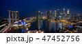 シンガポール・マリーナベイの夜景 大パノラマ 47452756