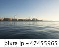 港 海 プラント 早朝 青空 47455965