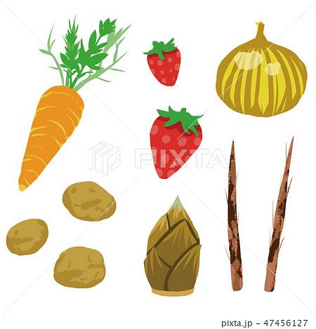 春野菜野菜 イラストセット2 Spring Vegetables Set2 のイラスト素材