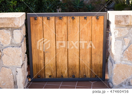 Design, architecture and building concept - The entrance gate of the house 47460456