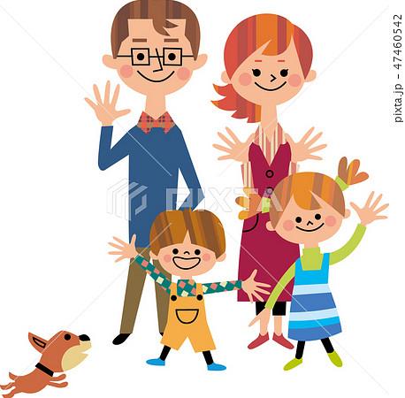 手を振る家族 47460542