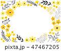 花 フレーム 植物のイラスト 47467205