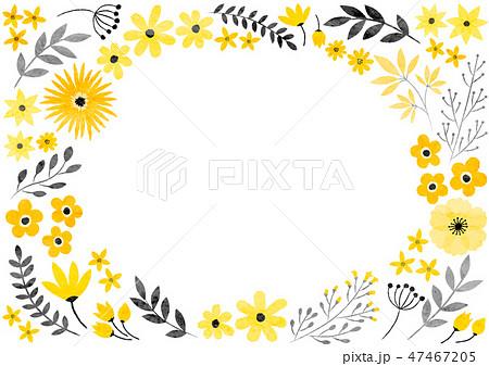 花のフレームのイラスト素材 47467205 Pixta