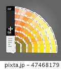 Illustration of color palette guide for print 47468179