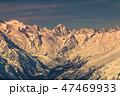 雪 山頂 頂上の写真 47469933