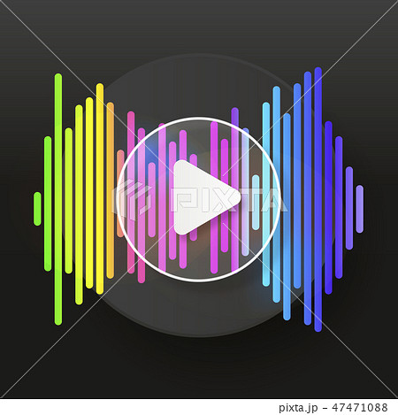 Pulse Music Player. Audio Colorful Wave Logo. 47471088
