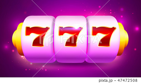 Spin and Win Slot Machine with Sevens 47472508