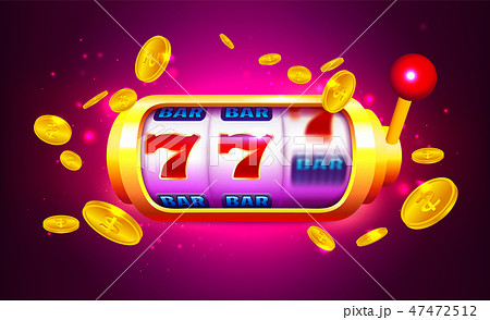 Spin and Win Slot Machine with Icons and Coins 47472512