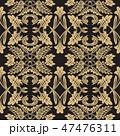 バロック様式 パターン 柄のイラスト 47476311