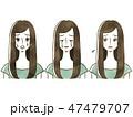 女性 表情 人物のイラスト 47479707