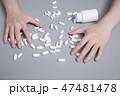 依存性 習慣 薬の写真 47481478