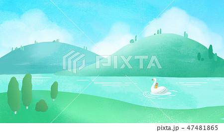 Wild and beautiful nature landscape scene background vector illustration 010 47481865
