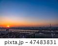《東京都》スカイツリーを望む・夕景 47483831
