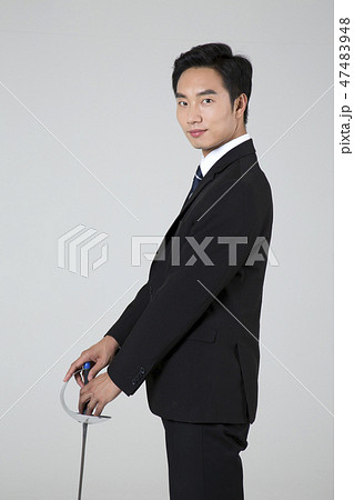 Businessman with various sports, business concept photo. 019 47483948
