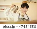 カフェ 店員 女性の写真 47484658