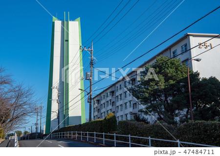 東京都水道局愛宕配水所 給水塔と団地 47484711