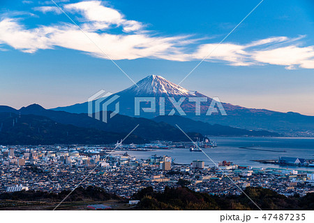 《静岡県》富士山・清水港の眺め《日本平より》 47487235